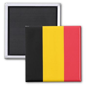 Magnet with Flag of Belgium