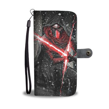 KUYOU Star Wars Kylo Ren Snowy Forest Wallet Phone Case