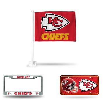 Kansas City Chiefs NFL 3 Piece Auto Fan Pack