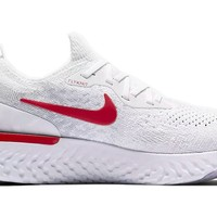 Nike Epic React Flyknit White Red shoe