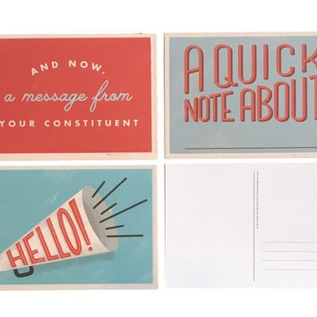 Political Postcards Set of 12
