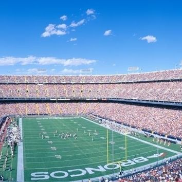 Sell-out crowd at Mile High Stadium  Broncos v. Rams  Denver  Colorado Poster Print (27 x 9)
