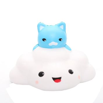 Animal Cat clouds Squishy Slow Rising Phone Strap Kid Toys
