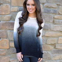 Closet Candy Boutique · Head of the Class Ombre Sweater - Black