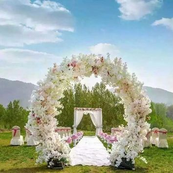 Artificial flowers. Fake flowers fall on the ground 4. Japanese cherry blossom. Wedding decoration flower