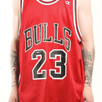 Vintage Chicago Bulls Michael Jordan Champion Basketball Jersey Sz 48 – F As In Frank Vintage