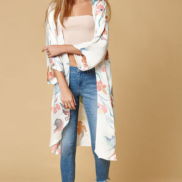 Honey Punch Floral Kimono at PacSun.com
