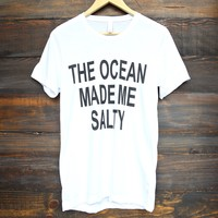 distracted - the ocean made me salty unisex tee - white