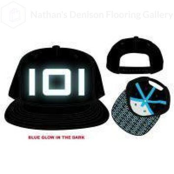 Innovative Online Industries Glow-in-the-Dark Logo Hat, Embroidered Design on Black, Flatbill Gamer Pattern