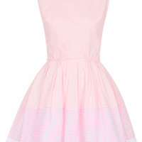 **SOPHIE PINK AND WHITE STRIPE DRESS BY JONES AND JONES