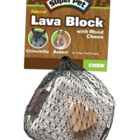 Super Pet Pumice Lava Block Small Animal Chew Toy