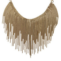 Gold BCBG Fringe Necklace