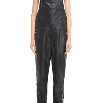 Givenchy Faux Leather Overalls | Nordstrom
