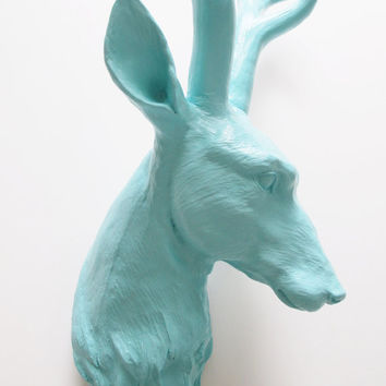 Seafoam, Deer Head, Faux Taxidermy, Deer Head Australia, Faux Deer Head, Animal Head, Wall Mount Stag, Hodi Home Decor, Stag Head