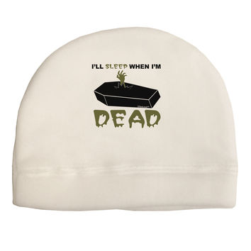 Sleep When Dead Coffin Child Fleece Beanie Cap Hat