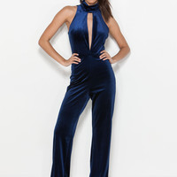 70s Party Velvet Jumpsuit