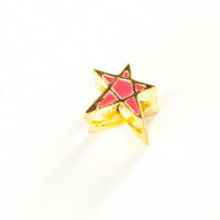3D Cut Out Star Ring