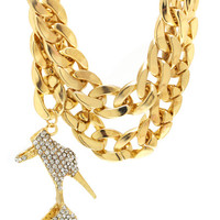 Stiletto-Swag-Chain-Necklace GOLD - GoJane.com