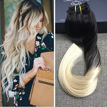 best blonde ombre hair extensions products on wanelo