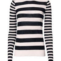 Joseph Striped Cashmere Sweater - INTERMIX®