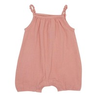 Mouche Baby Girls' Soft Pink Crinkly Romper