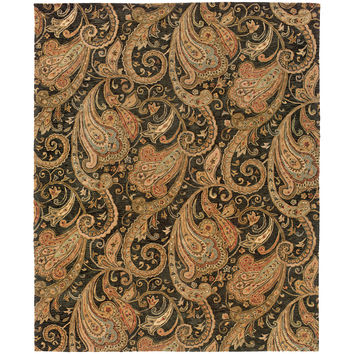 Oriental Weavers Huntley 19104 Black/Gold Paisley Area Rug