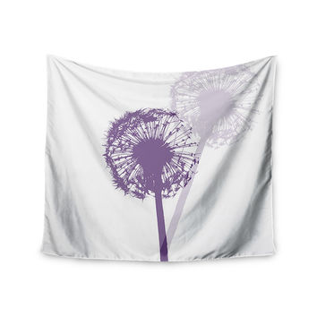 "Monika Strigel ""Dandelion"" Purple Flower Wall Tapestry"