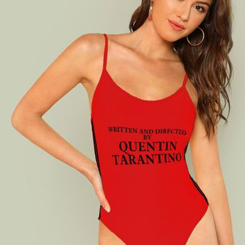 Red written and directed by Quentin Tarantino bodysuit