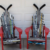 Hockey Stick Adirondack Chairs by HockeyStickStuff on Etsy