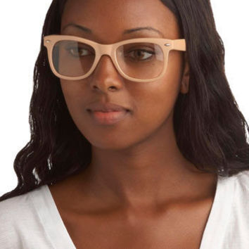 Beatnik Beige Glasses | Mod Retro Vintage Glasses | ModCloth.com