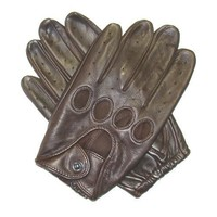 Traditional Leather Driving Gloves Size M Color BRN
