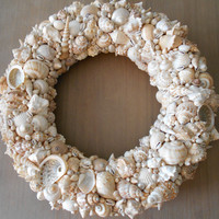Beach Wreath, Beach Decor, Seashell Wreath, Beach Home Decor, Shell Wreath, Beach House Gift, Coastal Decor, Coastal Wreath