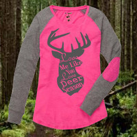 Love Me Like You Love Deer Season ~ Hunter's Wife ~ Baseball Tee