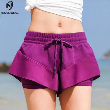 Novel ideas Gym Quick Drying Running Shorts Women Fitness workout Sport Shorts girl Shorts Female Athletic trainning Shorts