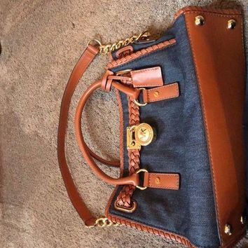 DCCKJY6X mk purse Jean and Leather