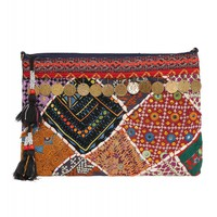 Java Coin Embroidered Clutch
