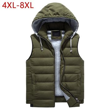 Winter Cotton Vest For Men Classic 2018 Warm Thick Male Casual Parka Outerwear Sleeveless Jacket Hoodie 4 Colors Brand Waistcoat