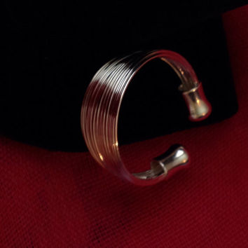 925 Sterling Silver Wire Adjustable Statement Ring