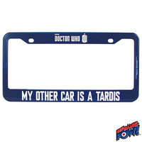 Doctor Who - My Other Car Is A TARDIS License Frame