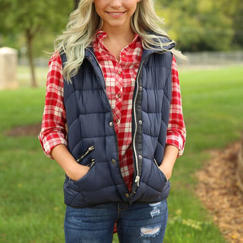 Cross Country Vest - Navy