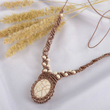 Handmade necklace designer jewelry unusual gift threads necklace beaded necklace