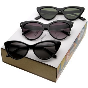 Women's Iconic Retro Cat Eye Sunglasses C053 [Promo Box]