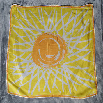 Vera Neumann Silk Yellow Sunshine Scarf