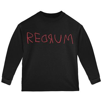 Halloween Horror Redrum Toddler Long Sleeve T Shirt