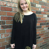 Monogrammed Piko Dress- Perfect for game day and soroities. Several colors to choose from.