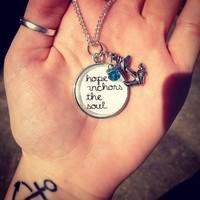 Hope Anchors The Soul Necklace