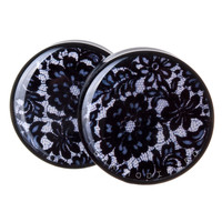 Black Lace BMA Plugs (2.5mm-60mm)