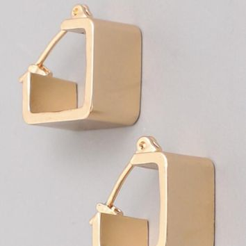 Open Cube Earrings