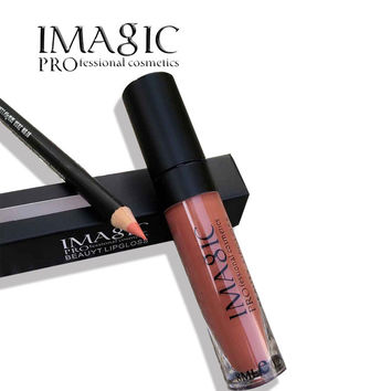 IMAGIC brand  lip kit matte lipgloss Lip Liner Pencil Pen Liquid Lipstick set  lip stick lip gloss Lips Women Makeup Tool