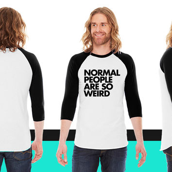 Normal People American Apparel Unisex 3/4 Sleeve T-Shirt